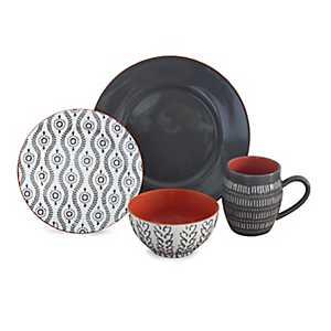 Gray Tangiers 16-pc. Dinnerware Set