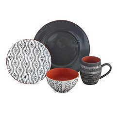 Gray Tangiers 16-pc. Dinnerware Set