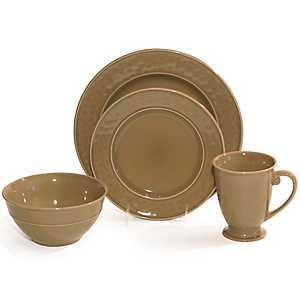 Taupe Wellington 16-pc. Dinnerware Set
