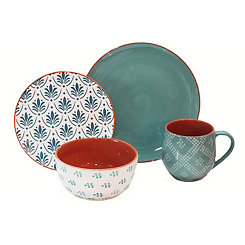 Turquoise Oasis 16-pc. Dinnerware Set