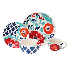 Medallion Floral 16-pc. Dinnerware Set