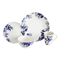 Botanical Blue 16-pc. Dinnerware Set