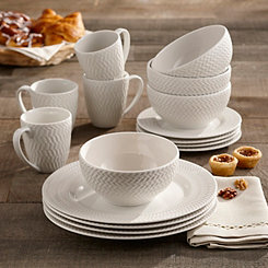 Bridgette White 16-pc. Dinnerware Set