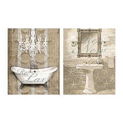 Relax and Renew Canvas Art Prints, Set of 2