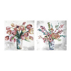 Soft Macro Centerpiece Canvas Art Prints, Set of 2