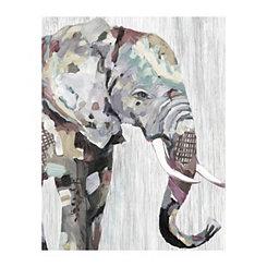 Soft Elephant Canvas Art Print