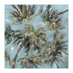 Soft Heavenly Palms Canvas Art Print