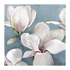 Light Magnolias Canvas Art Print