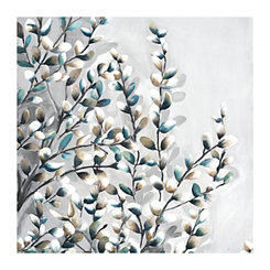 Light Watercolor Willows Canvas Art Print