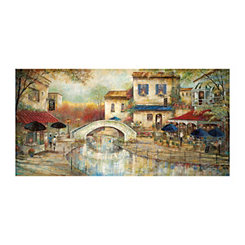 By the Canal Canvas Art Print