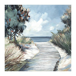 Light Beach Walk Canvas Art Print
