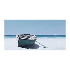 Beached Boat Canvas Art Print