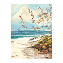Light Beach Dunes Canvas Art Print