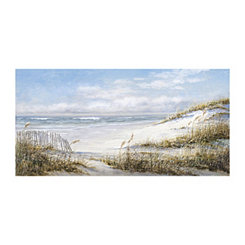 Soft Beach Fence Canvas Art Print