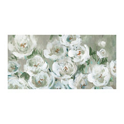 Gray Loose Peonies Canvas Art Print