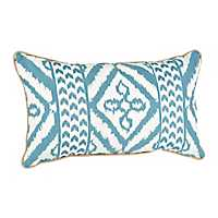 Teal Adobe Print Accent Pillow