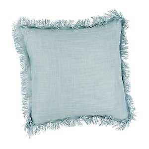Seafoam Fringe Pillow