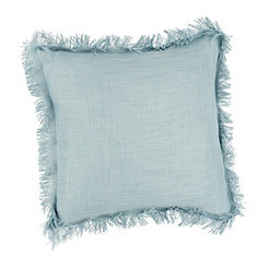 Seafoam Fringe Pillow