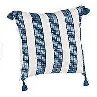 Blue Dotted Stripe Pillow