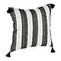 Black Dotted Stripe Pillow