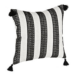 Black Dotted Stripe Pillow
