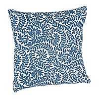 Blue Westley Leaves Pillow
