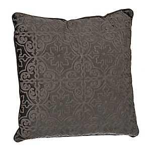 Gray Boucle Tile Pillow