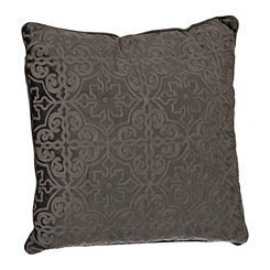 Gray Boucle Tile Pillow