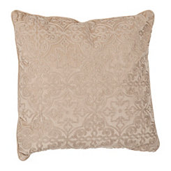 Tan Boucle Tile Pillow