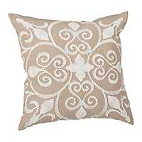 Florence White Applique Pillow