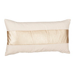 Metallic Gold Stripe Accent Pillow