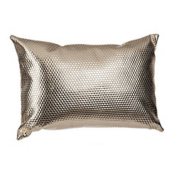 Gold Leather Hexagon Accent Pillow