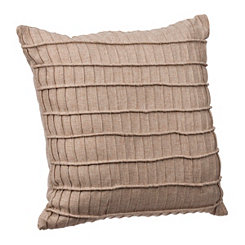 Tan Rayner Pleated Stripe Pillow