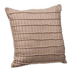Tan Rayner Pleated Stripe Pillow