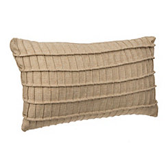 Tan Rayner Pleated Stripe Accent Pillow