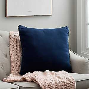 Navy Jersey Whipstitch Pillow