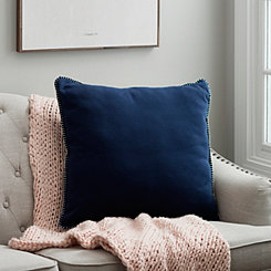 Navy Jersey Whipstitch Pillow