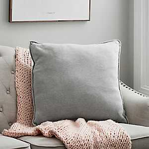 Gray Jersey Whipstitch Pillow