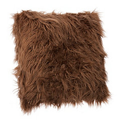 Brown Keller Mongolian Fur Accent Pillow