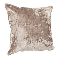 Tan Melissa Velvet Pillow