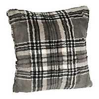 Gray Plaid Pillow
