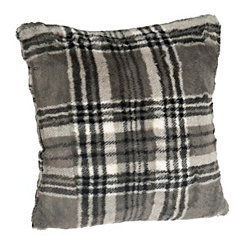 Gray Plaid Pillow