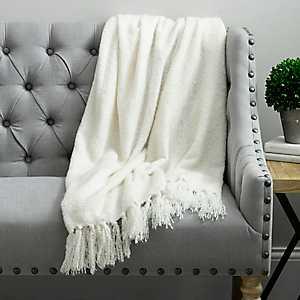 Cream Christine Mohair Throw Blanket
