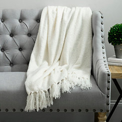 Cream Christine Mohair Throw Blanket