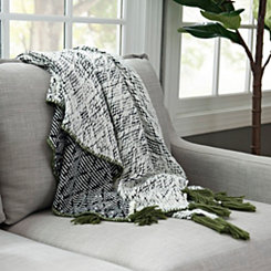 Kendal Knit White Cypress Throw Blanket