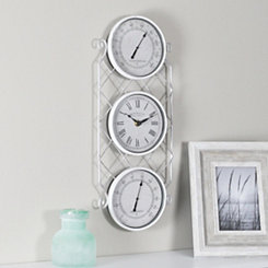 White Allegri Outdoor Wall Clock