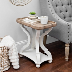 Corina Scalloped Chairside Table
