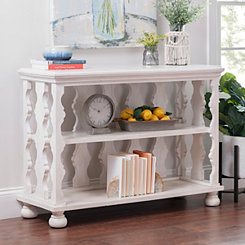 Alexis White Cutout Console Table