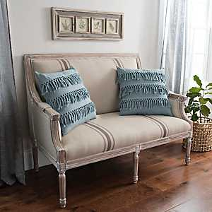 McKenna Tan Stripe Loveseat