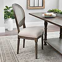 Charlotte Oatmeal Linen Mesh Back Dining Chair